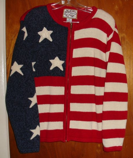 Women's US Flag Sweater size M by Heirloom Collectibles