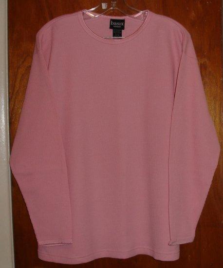 Pink Blouse by Basix Women's size 14 / 16