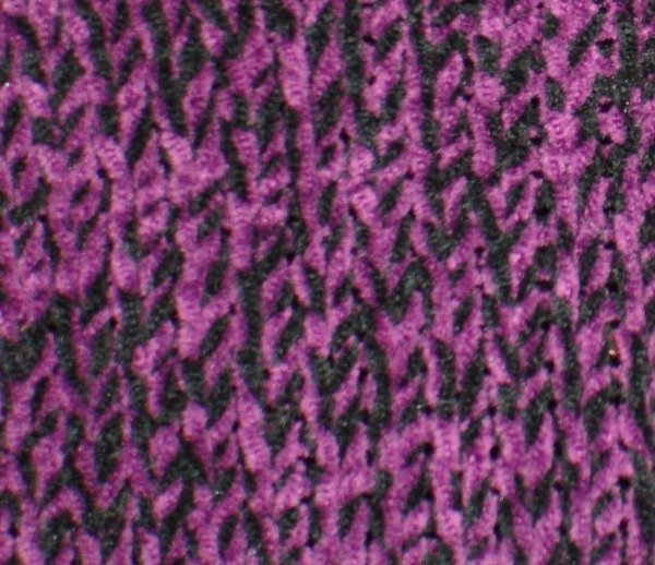 NWT Carolyn Taylor Women's Chenille Purple and Black Sweater Size XL