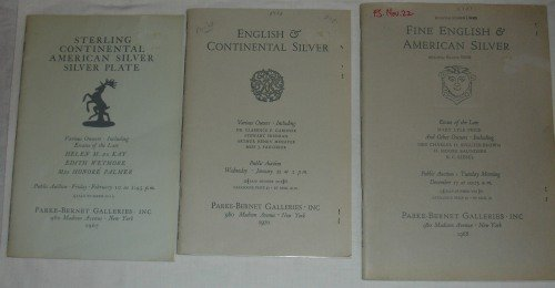 3 Parke-Bernet Galleries Auction Catalog 1967, 1968, 1970
