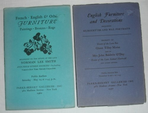 2 Parke-Bernet English Furniture Auction Catalog 1950 and 1962