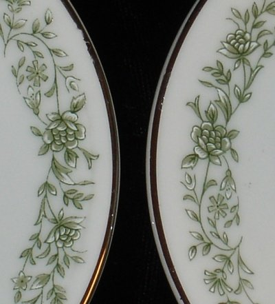 Mikasa Country Rose Pattern, White and Green Candle Holders