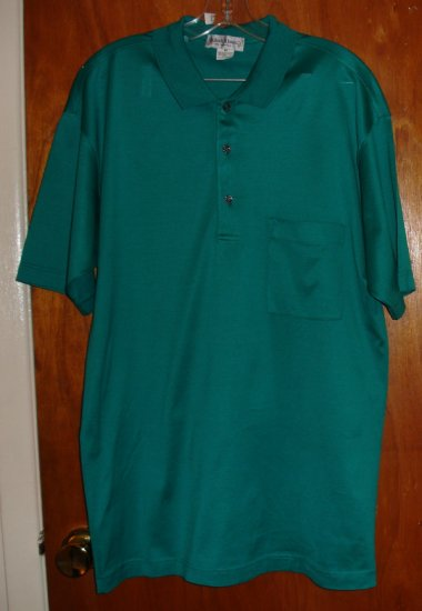 Men's Green Cotton Shirt size M   by Bullock & Jones  $70 retail