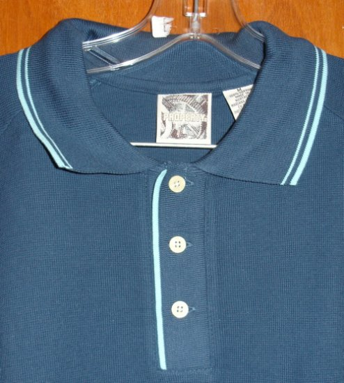 Blue Short Sleeve Men's Shirt by Property size M medium NEW without tags