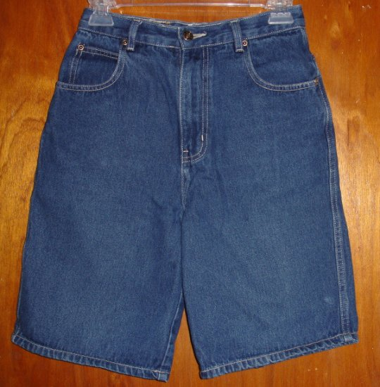 Girl's Route 66 Blue Denim Burmuda length shorts size 14   very good condition