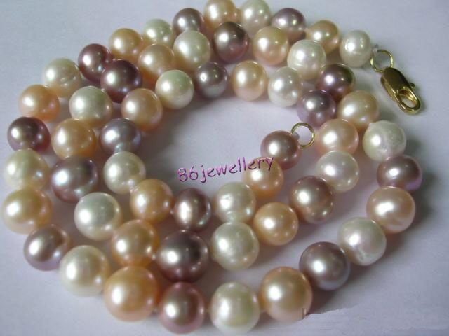 natural 3-color mix fresh water pearl necklace ID0805-24