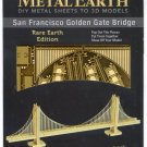 Metal Earth SAN FRANCISCO GOLDEN GATE BRIDGE in GOLD New 3D Puzzle Micro Model