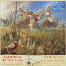 SunsOut GATHERING BY THE BARN 500 pc New Jigsaw Puzzle XL Pieces Pheasants