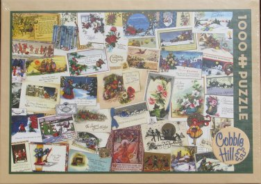 Cobble Hill VICTORIAN GREETING CARDS 1000 pc New Jigsaw Puzzle Christmas