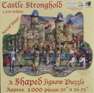 SunsOut CASTLE STRONGHOLD 1000 pc New Shaped Jigsaw Puzzle Lori Schory