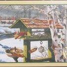 Cobble Hill Ken Zylla BACKYARD BANQUET 1000 pc New Jigsaw Puzzle Bird Feeder