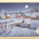 Cobble Hill Sam Timm ONE DECEMBER NIGHT 1000 pc New Jigsaw Puzzle Snowmen