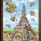 D Toys BUILDING THE EIFFEL TOWER 1000 pc New Jigsaw Puzzle Cartoon Collection