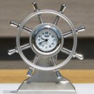 Sanis SHIP WHEEL DESK CLOCK Executive Toy New