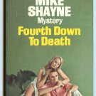 Mike Shayne 61 FOURTH DOWN TO DEATH Brett Halliday Dell 2699 First Printing