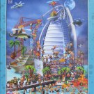 D Toys BUILDING THE BURJ AL ARAB 1000 pc New Jigsaw Puzzle Cartoon Collection