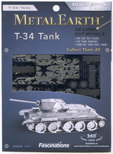 Metal Earth WWII Russian T34 TANK New 3D Puzzle Micro Model