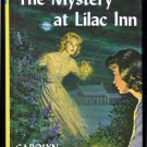 Nancy Drew 4 THE MYSTERY AT LILAC INN Carolyn Keene Flashlight Logo HC