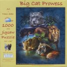 SunsOut BIG CAT PROWESS 1000 pc Jigsaw Puzzle Lion Tiger Leopard Panther