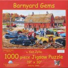 SunsOut Ken Zylla BARNYARD GEMS 1000 pc Panorama Jigsaw Puzzle Vintage Cars