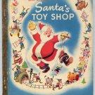 Little Golden Book Walt Disney SANTA'S TOY SHOP LGB D16 A Version 1950