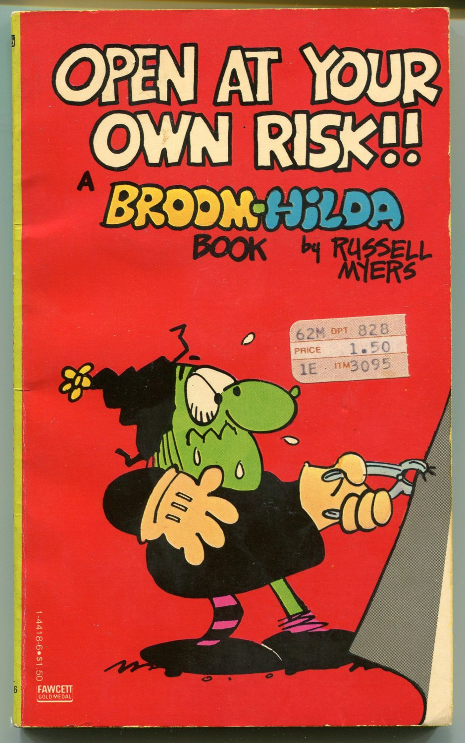Broom Hilda OPEN AT YOUR OWN RISK Russell Myers First Printing