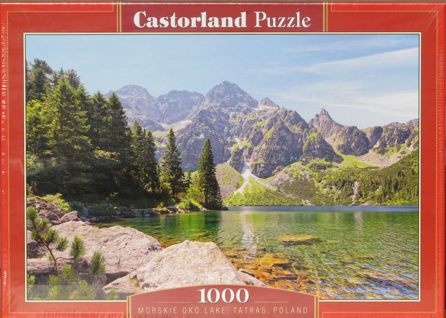 Castorland MORSKIE OKO LAKE POLAND 1000 pc Jigsaw Puzzle Wolf