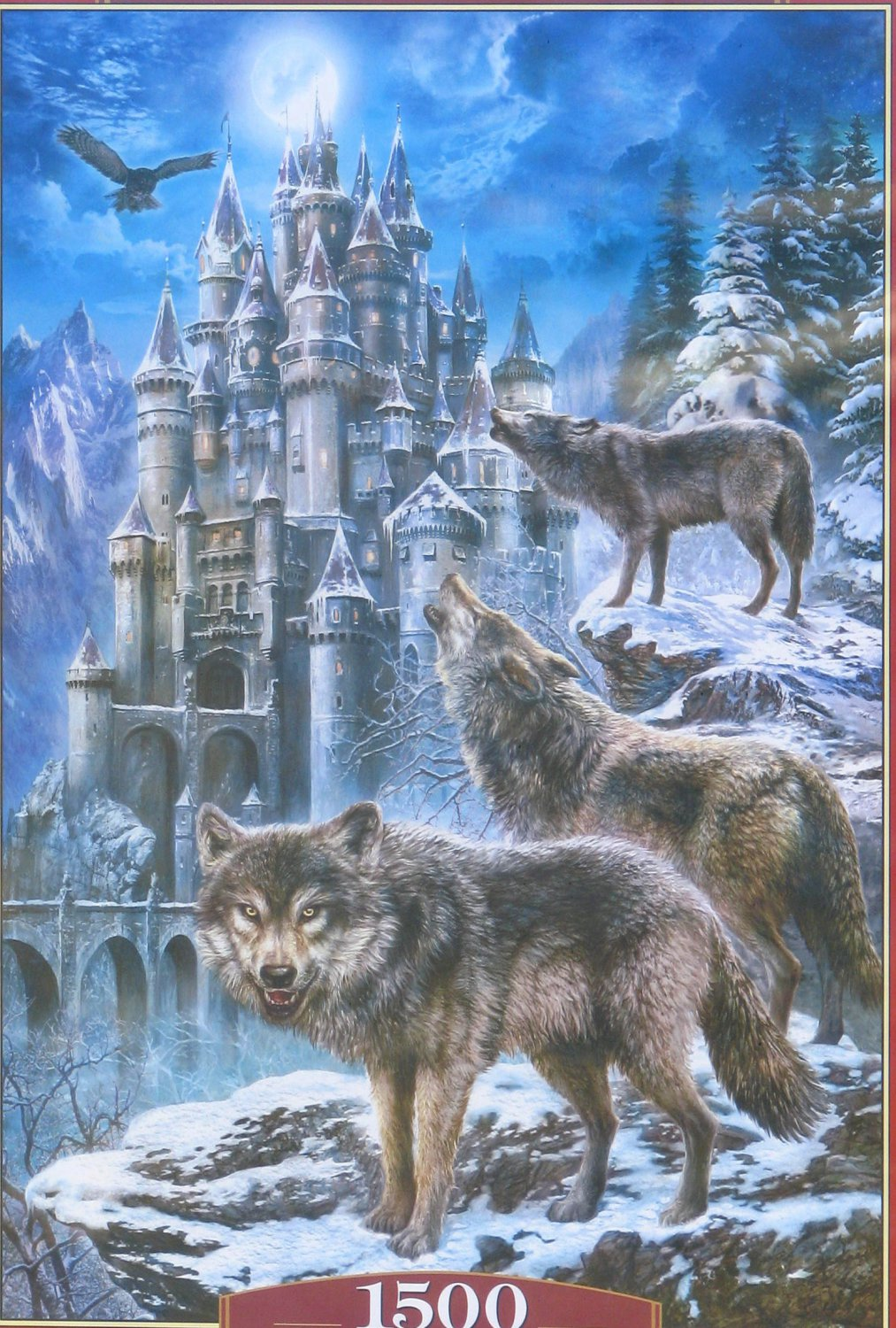 Castorland WOLVES AND CASTLE 1500 pc Jigsaw Puzzle