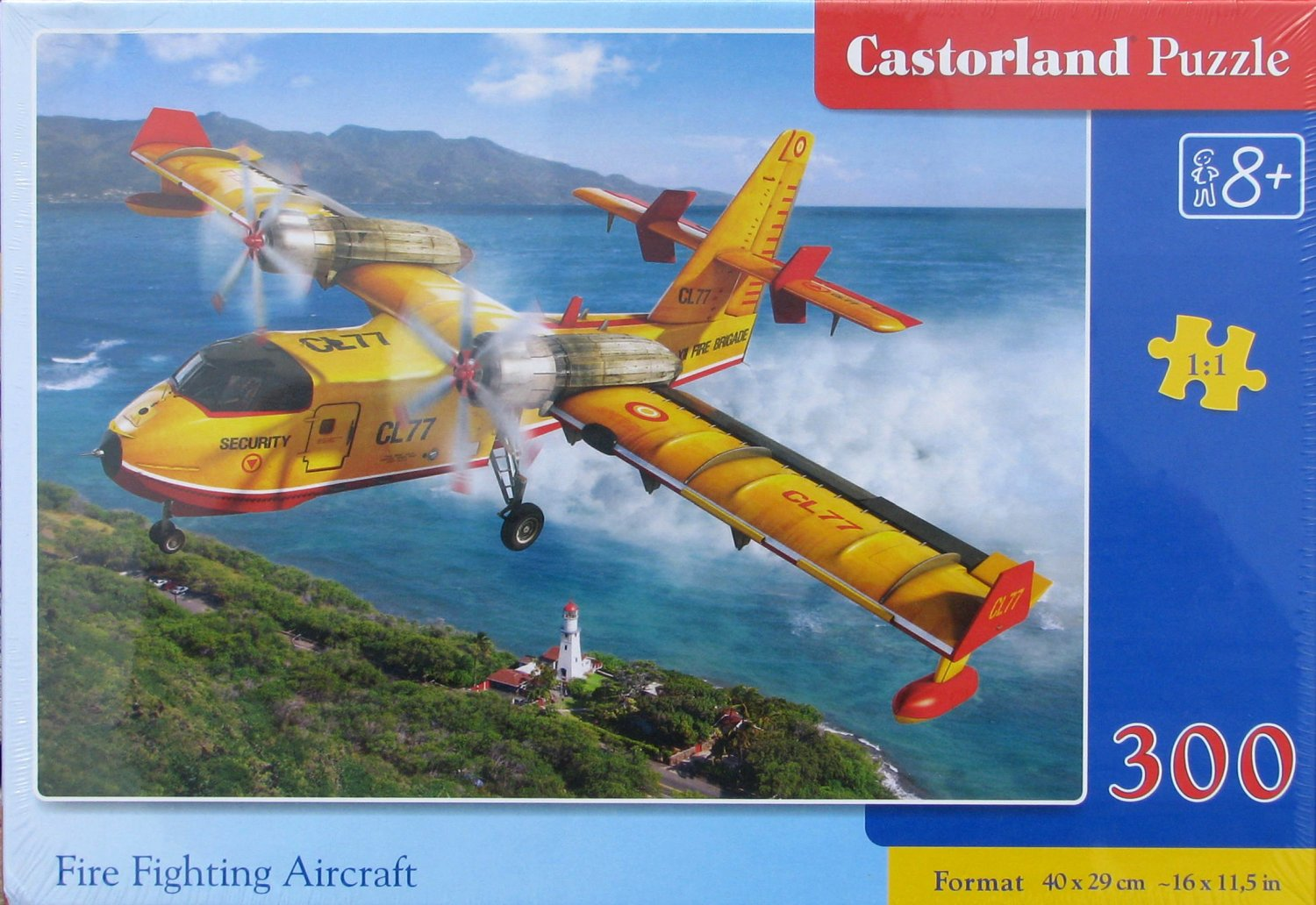 Castorland FIRE FIGHTING AIRCRAFT 300 pc Jigsaw Puzzle