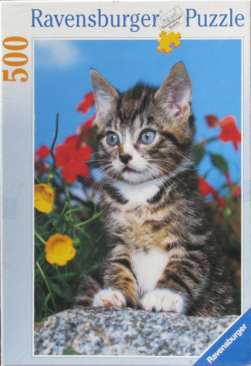 Ravensburger STRIPED KITTEN Used 500 pc Jigsaw Puzzle