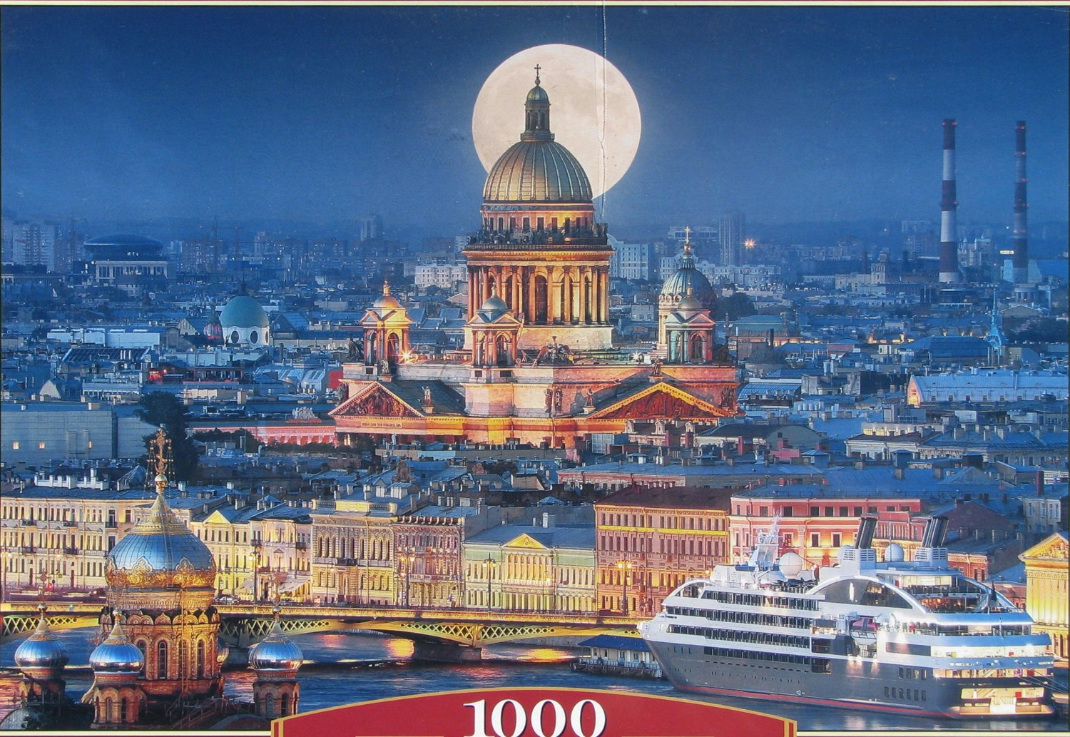 Castorland FULL MOON OVER ST ISAAC�S CATHEDRAL 1000 pc Jigsaw Puzzle