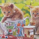 Castorland TEA TIME with Kittens 500 pc Jigsaw Puzzle