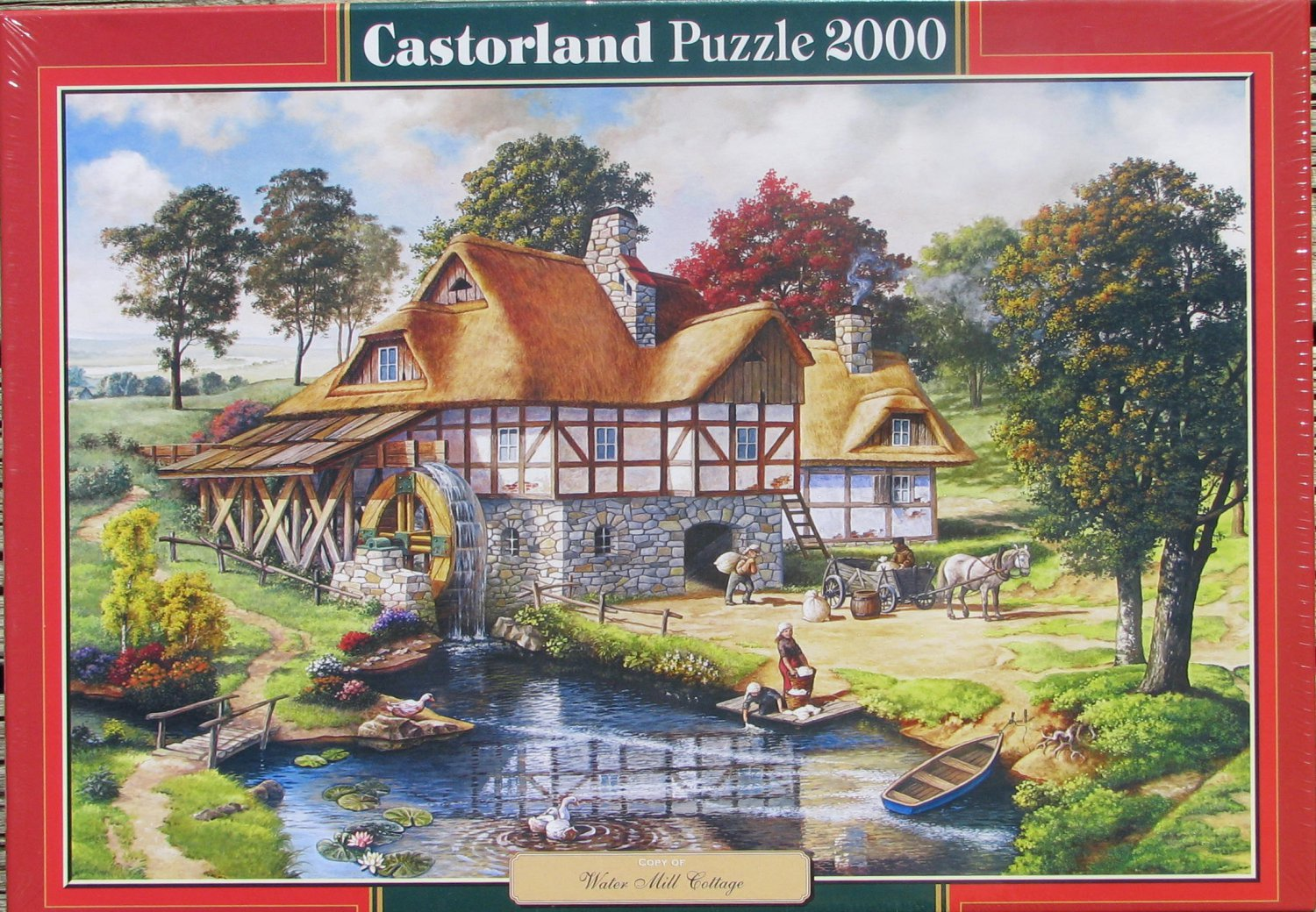 Castorland WATER MILL COTTAGE 2000 pc Jigsaw Puzzle