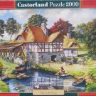 Castorland WATER MILL COTTAGE 2000 pc Jigsaw Puzzle New