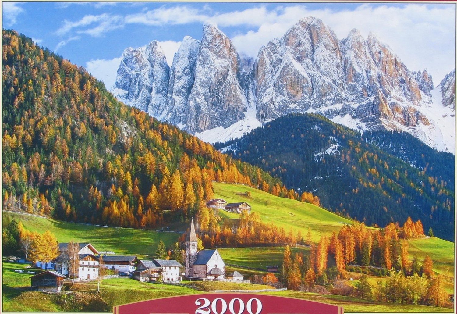 Castorland CHURCH OF ST MAGDALENA DOLOMITES 2000 pc Jigsaw Puzzle