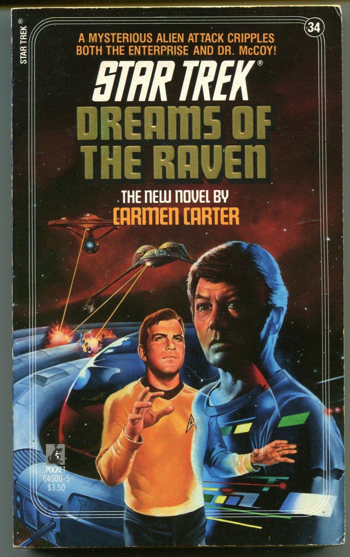 Star Trek 34 DREAMS OF THE RAVEN Carmen Carter First Printing