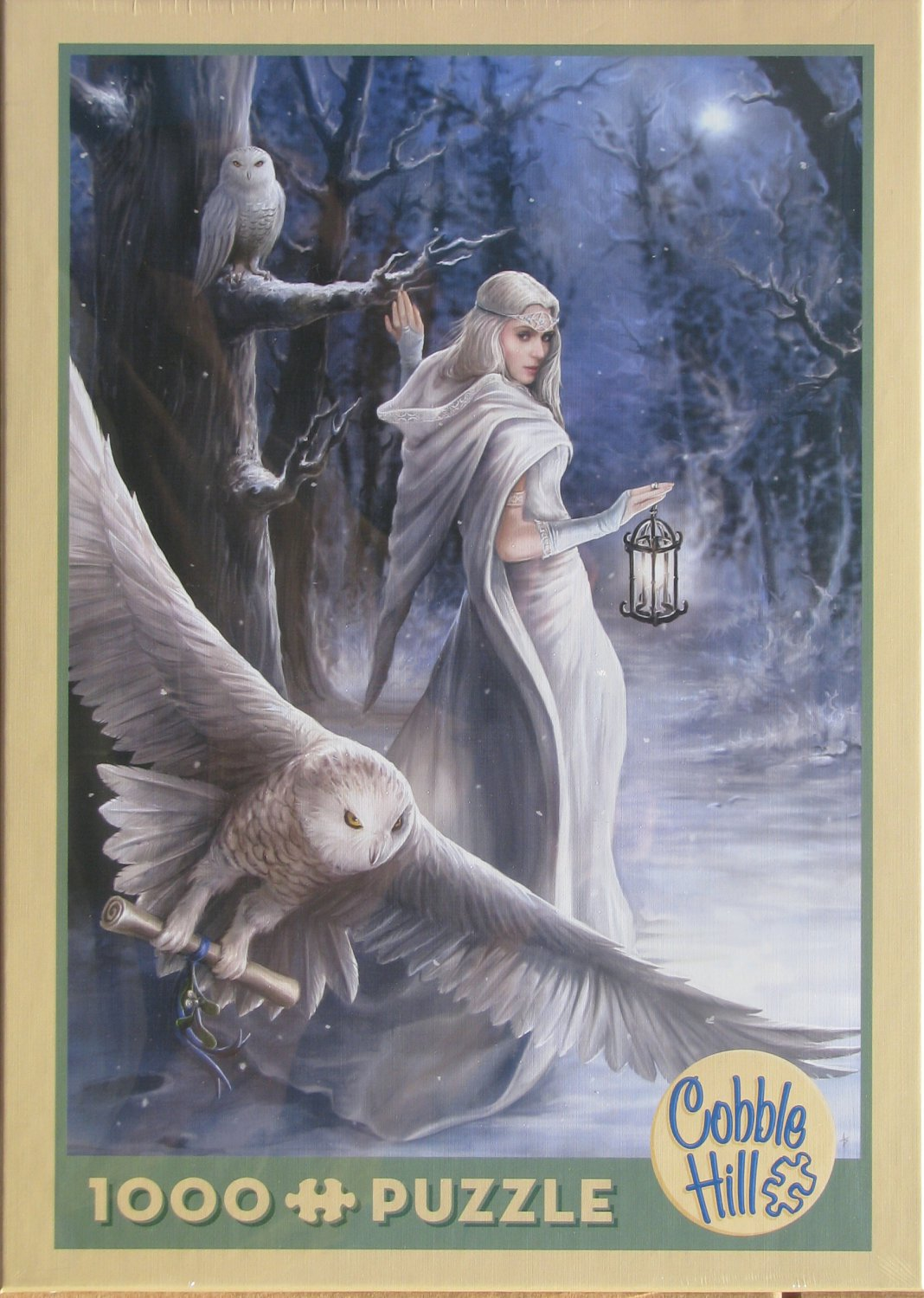 Cobble Hill MIDNIGHT MESSENGER 1000 pc Jigsaw Puzzle Anne Stokes Owls