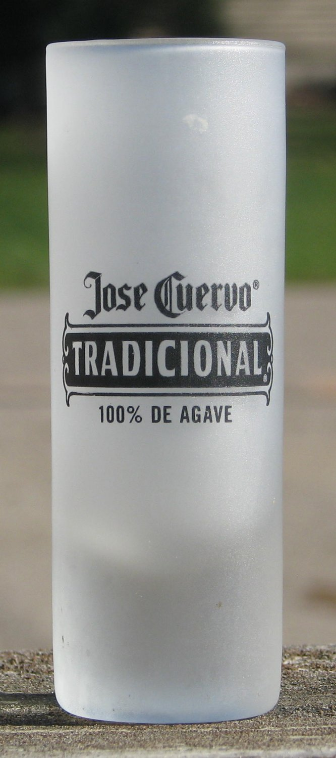 Jose Cuervo Tradicional Frosted Tall Shot Glass Shooter