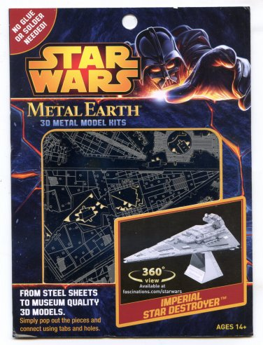 Metal Earth Star Wars IMPERIAL STAR DESTROYER New 3D Puzzle Micro Model