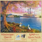 SunsOut Dominic Davison MISSISSIPPI QUEEN 500 pc Jigsaw Puzzle Riverboat