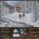 SunsOut IN HOT PURSUIT 550 pc Jigsaw Puzzle Greg Garrett Train Wolves