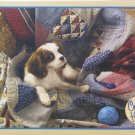 Cobble Hill LAUNDRY DAY 500 pc Jigsaw Puzzle Cavalier King Charles Spaniel Jo-Ann Richards