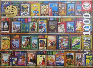 Educa WORLD TRAVEL GUIDES 1000 pc Jigsaw Puzzle