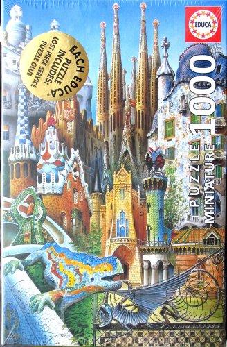 Educa GAUDI COLLAGE 1000 pc Miniature Jigsaw Puzzle