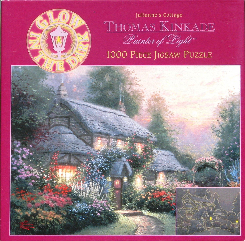 Thomas Kinkade JULIANNE�S COTTAGE 1000 pc Used Jigsaw Puzzle