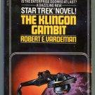Star Trek THE KLINGON GAMBIT Robert Vardeman First Printing