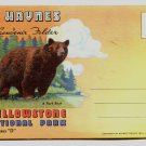 YELLOWSTONE NATIONAL PARK Series D Haynes Linen Souvenir Folder