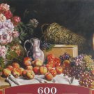 Castorland STILL LIFE WITH FLOWERS AND FRUIT ON A TABLE 600 pc Panorama Jigsaw Puzzle New