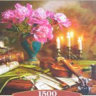 Castorland STILL LIFE WITH VIOLIN AND FLOWERS 1500 pc Jigsaw Puzzle