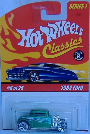Hot Wheels 1932 Ford Classics Collection 1 Green Paint White Tampos